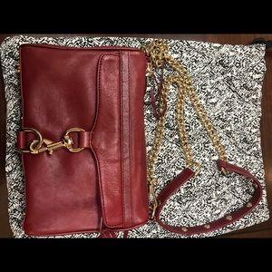 BEAUTIFUL crimson leather REBECCA Minkoff mini MAC